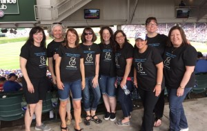 Postpartum Depression Alliance supporters and volunteers at our 2015 Fundraiser Cubs game