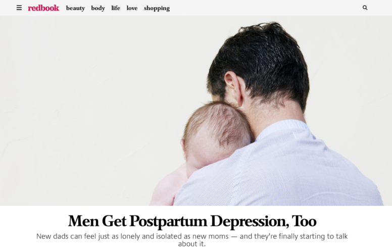 Men Get Postpartum Depression, Too